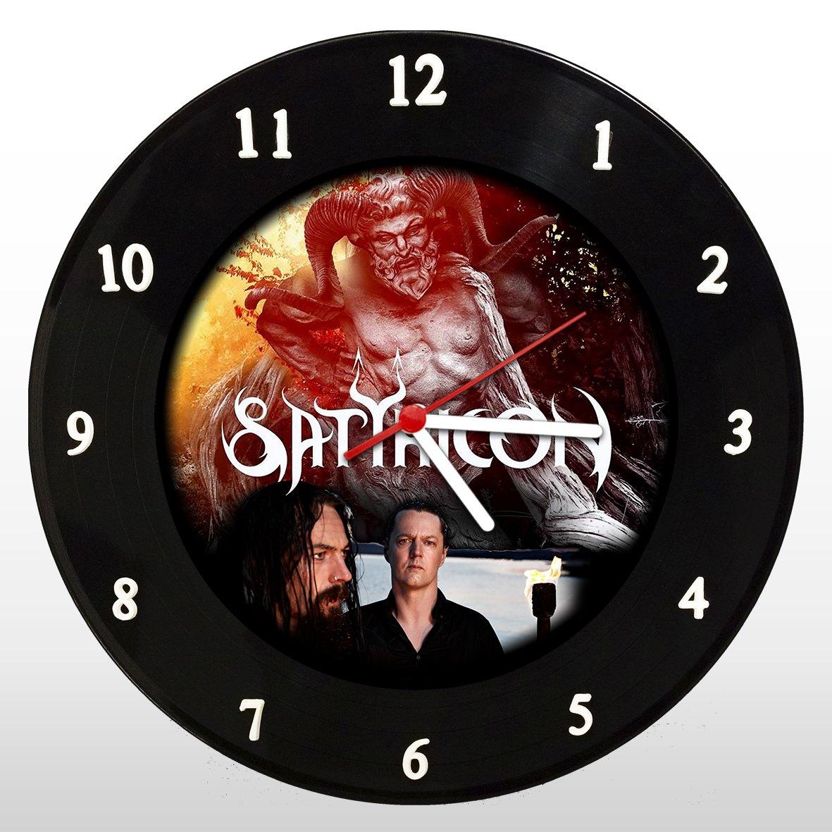 Satyricon - Relógio de Parede em Disco de Vinil - Mr. Rock