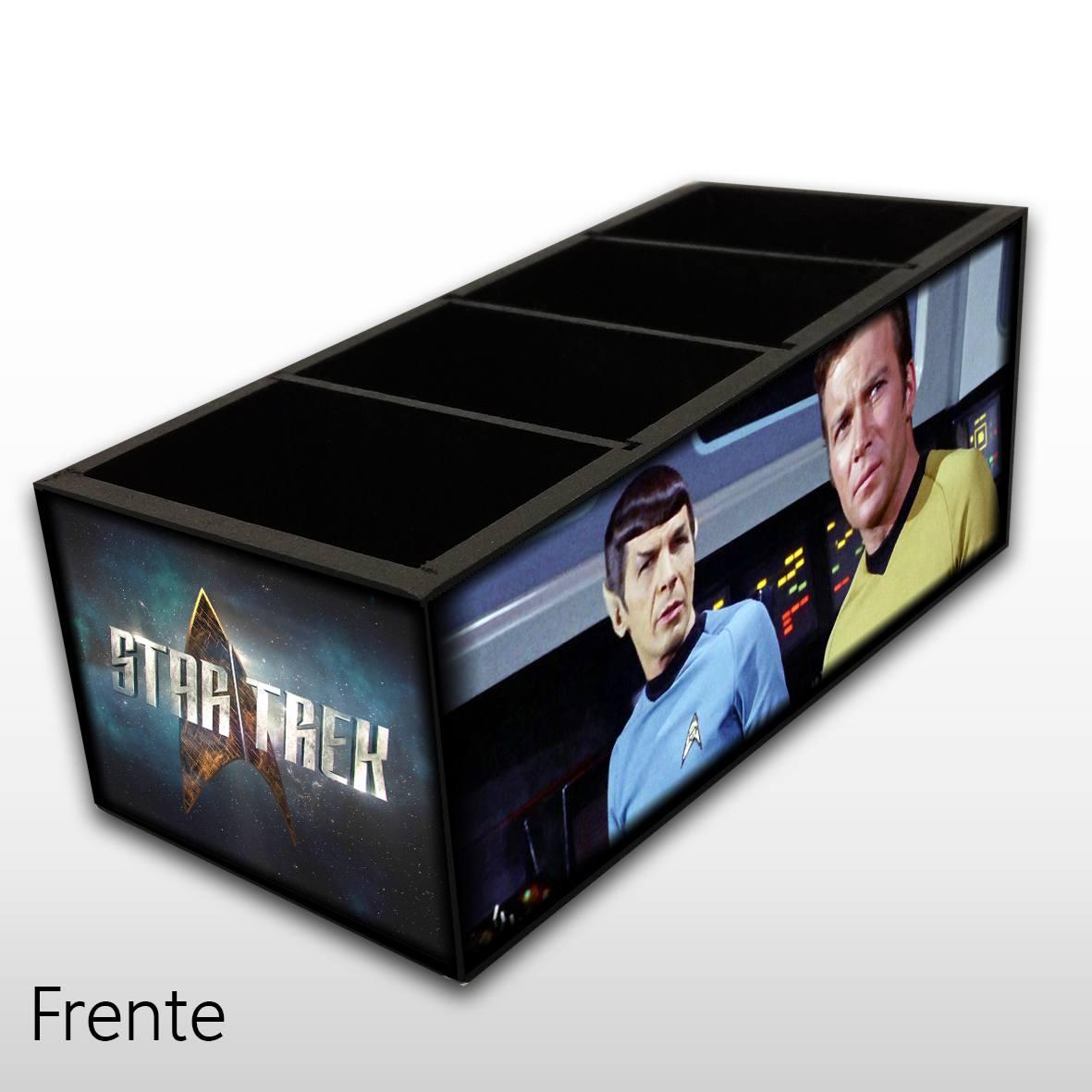 Star Trek - Jornada Nas Estrelas - Porta Controles MDF - 4 Espaços - Mr. Rock