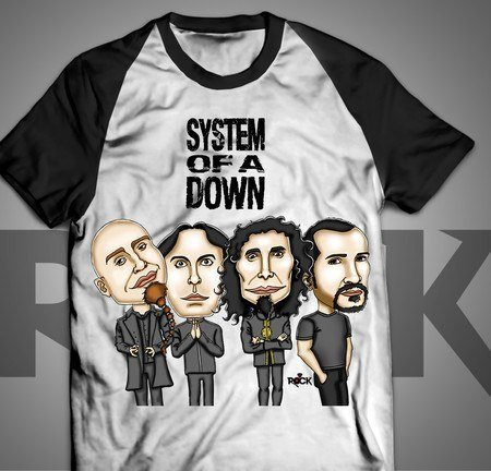 Camiseta Exclusiva Mitos do Rock System of a Down