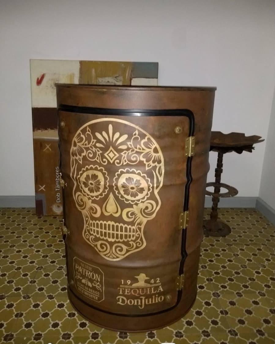 Tambor Decorativo Armário Caveira Mexicana