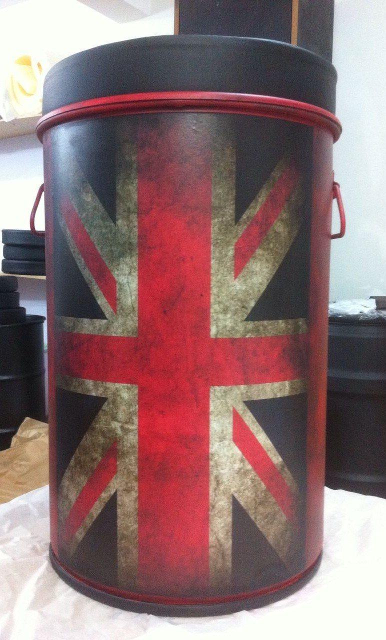 Puff Tambor Decorativo Tamanho M com alça - Bandeira da Inglaterra