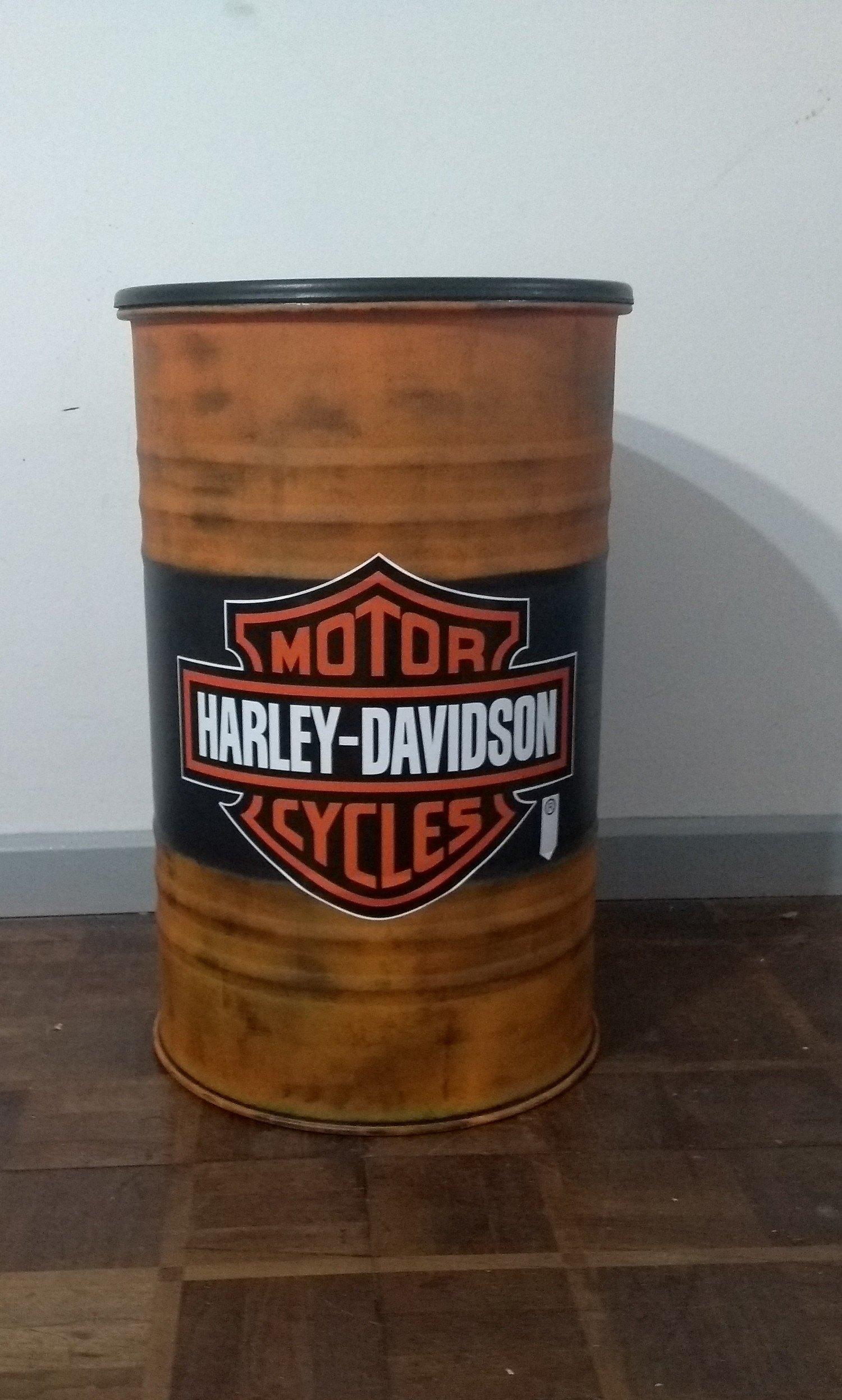 Tambor Decorativo Tamanho M Frisado Harley Davidson