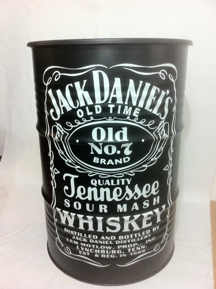 Tambor Decorativo Tamanho M Frisado Jack Daniel's