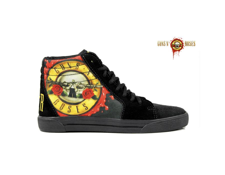 Tênis BandShoes Feminino Cano Alto Guns n Roses