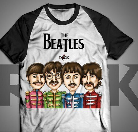 Camiseta Exclusiva Mitos do Rock The Beatles II