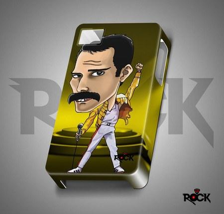 Capa de Celular Exclusiva Mitos do Rock Queen Freddie Mercury
