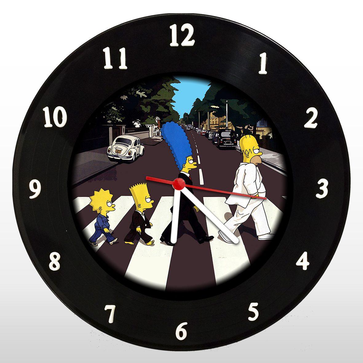 The Simpsons - Abbey Road - Relógio de Parede em Disco de Vinil - Mr. Rock