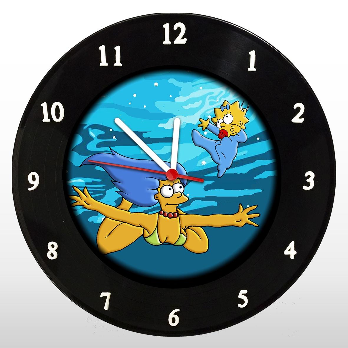The Simpsons - Nevermind - Marge - Relógio de Parede em Disco de Vinil - Mr. Rock