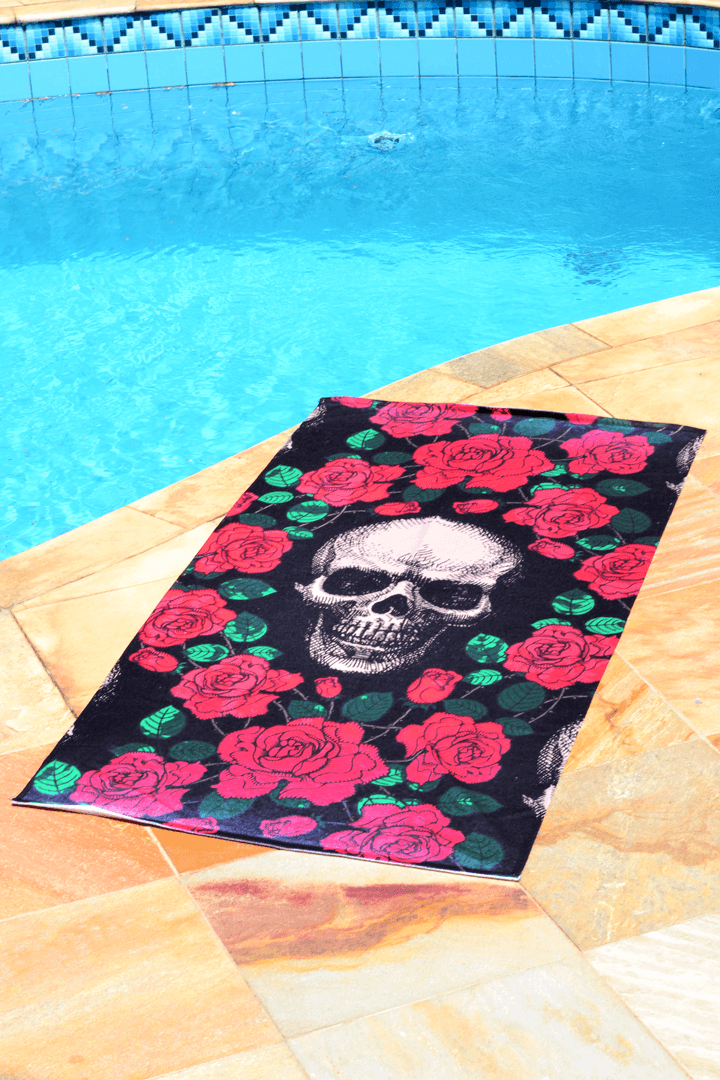 Toalha Skull & Roses