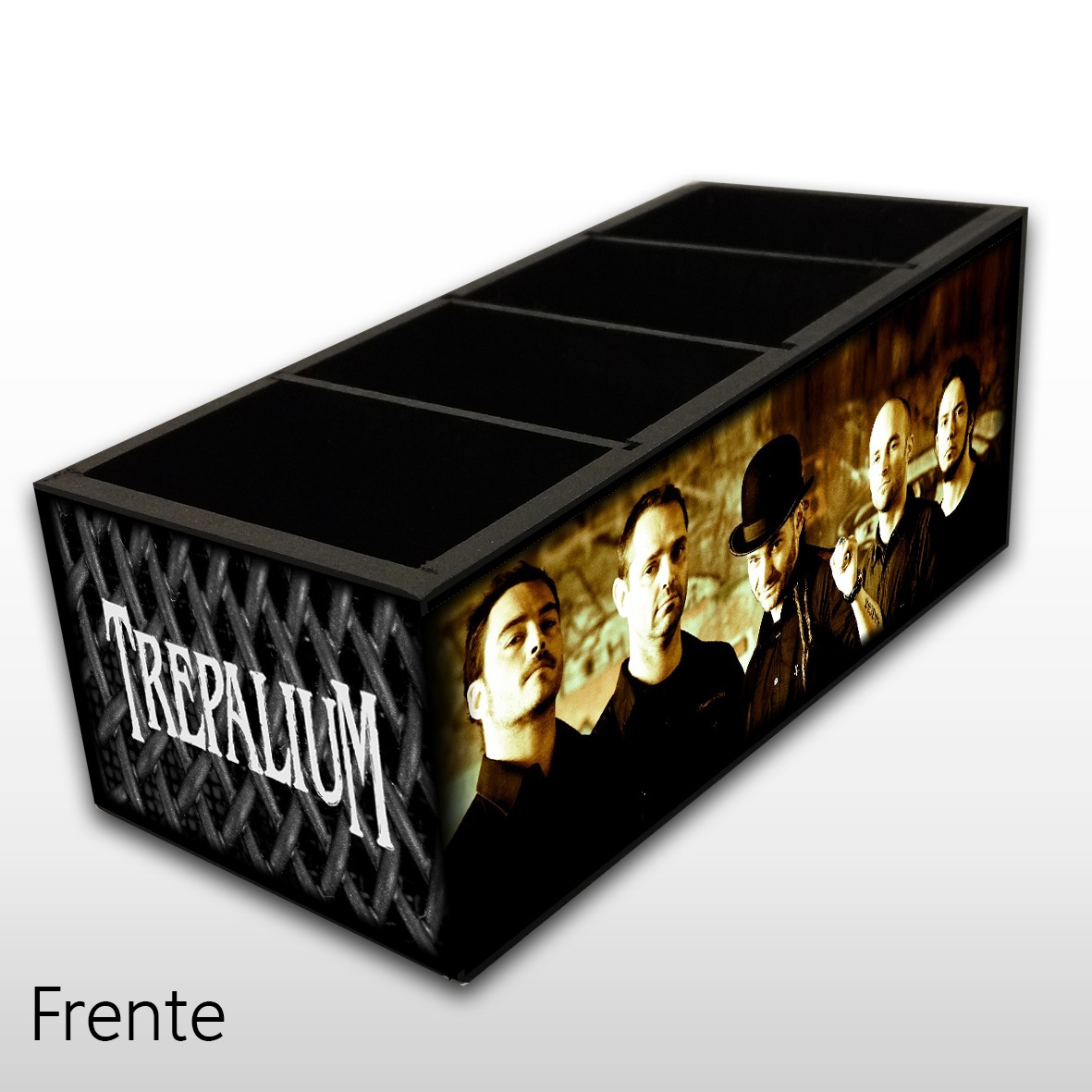 Trepalium - Porta Controles em Madeira MDF - 4 Espaços - Mr. Rock