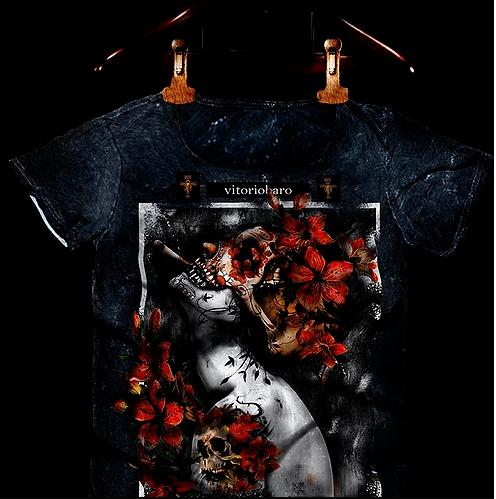 Tshirt Masculina Smoke Flowers - Vitorio Baro