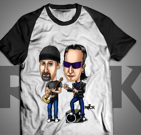 Camiseta Exclusiva Mitos do Rock U2