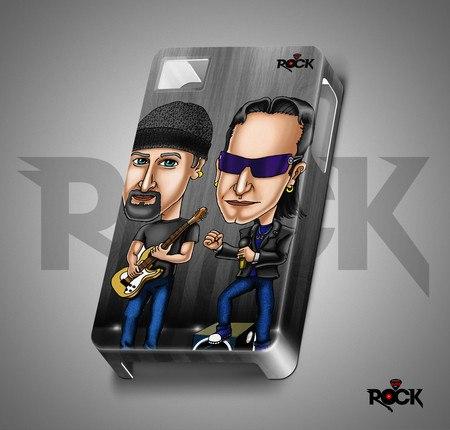 Capa de Celular Mitos do Rock Exclusiva U2