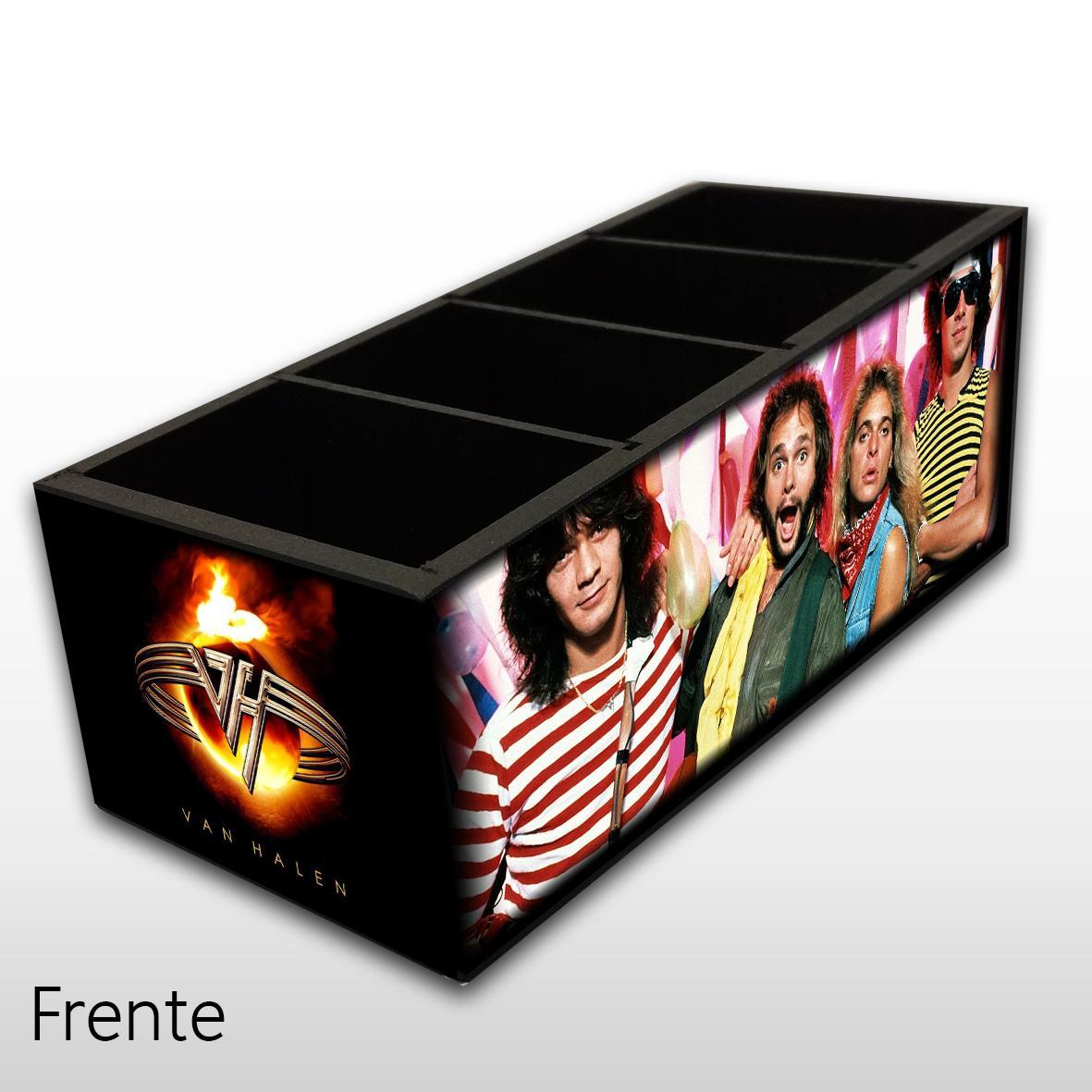 Van Halen - Porta Controles em Madeira MDF - 4 Espaços - Mr. Rock