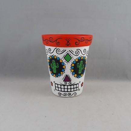 Vaso alto Caveira mexicana