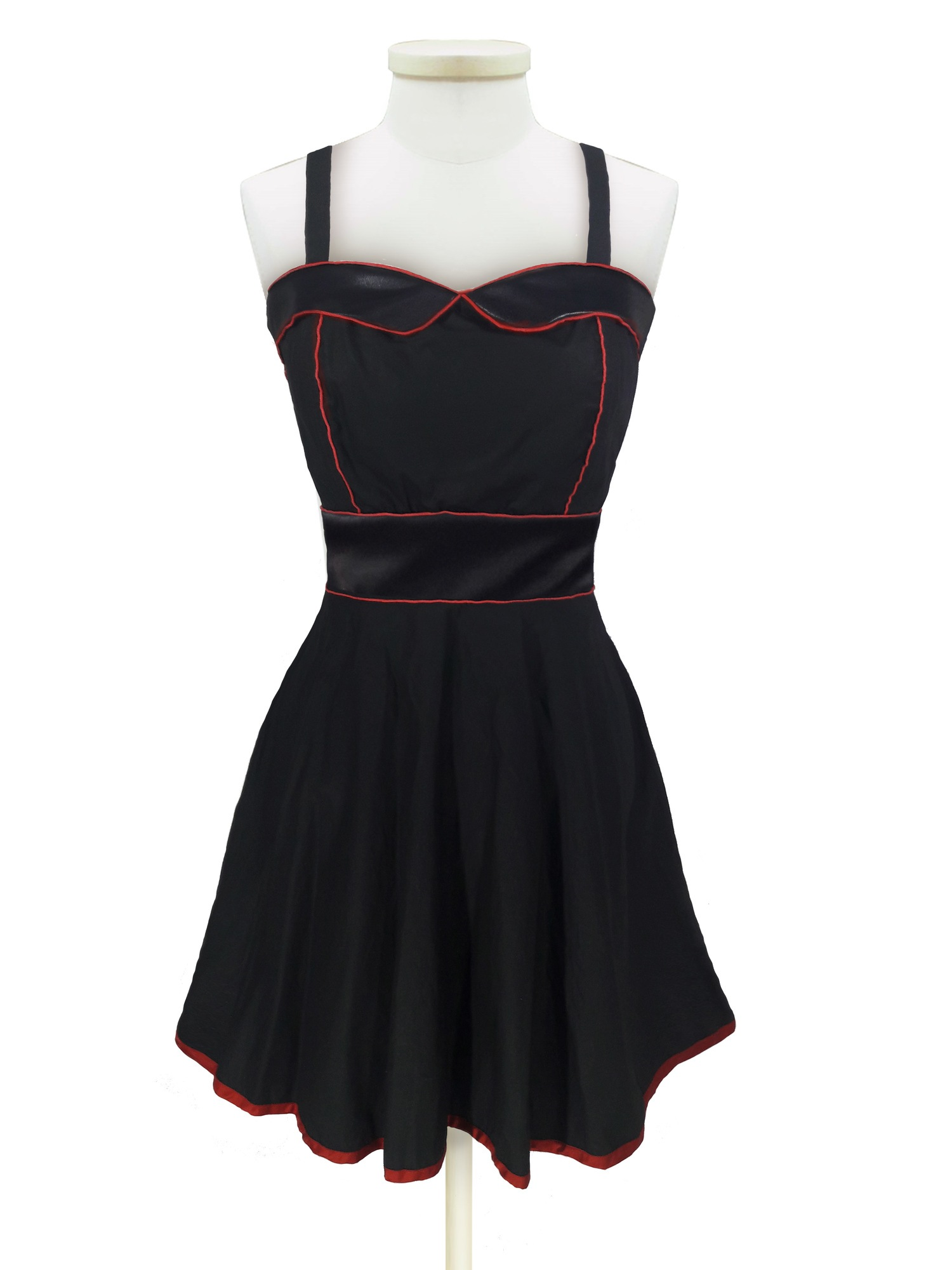 "Vestido - Classic Retro ""Black & Red"""