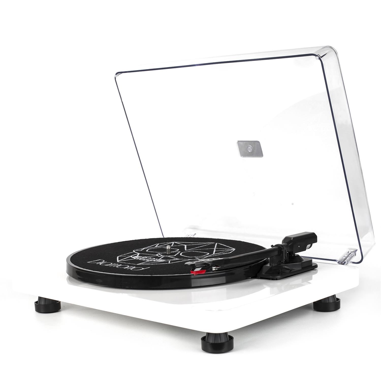 Vitrola Toca Discos Diamond Branca - Agulha Japonesa com software de gravação para MP3 - Echo Vintage
