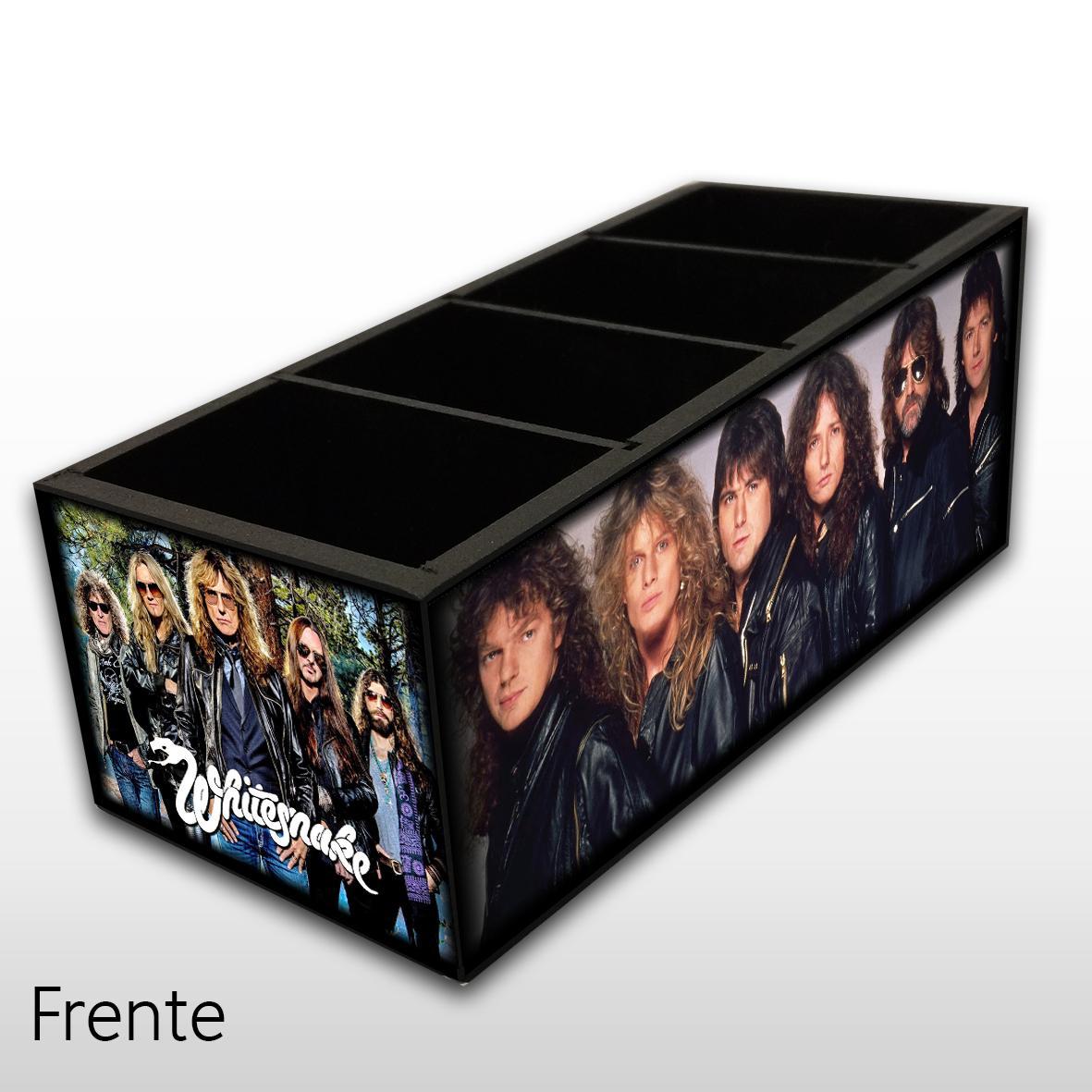 Whitesnake - Porta Controles em Madeira MDF - 4 Espaços - Mr. Rock