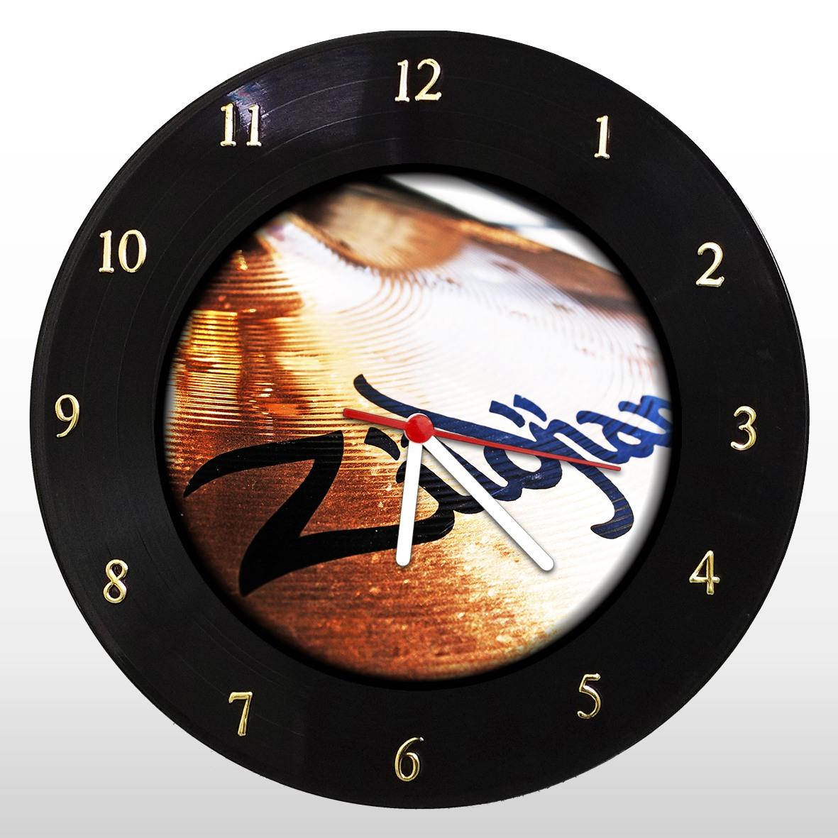 Zildjian - Relógio de Parede em Disco de Vinil - Mr. Rock