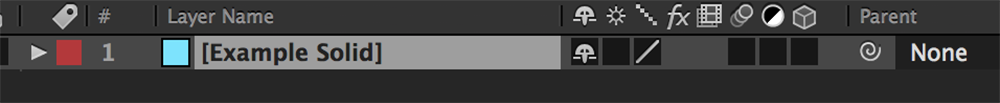 After Effects Tip Step 1: Select Your Layer