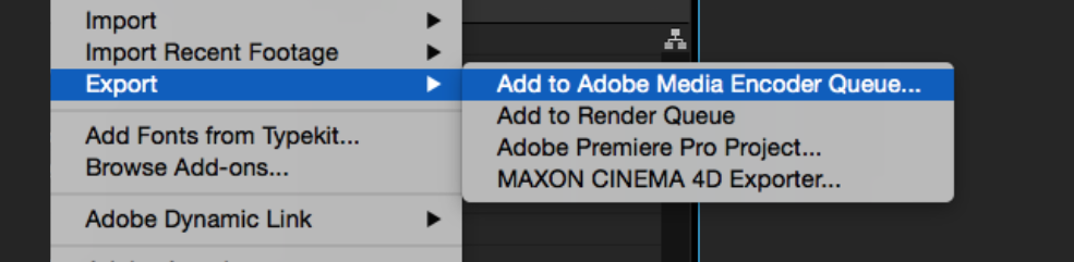 After effects Errors and How to Fix Them: Add to Media Encoder Dropdown