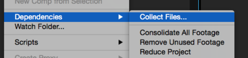 After effects Errors and How to Fix Them: Collect Files Dropdown