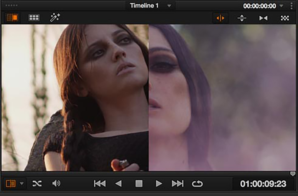 color correct mismatched footage: an example of mismatched footage