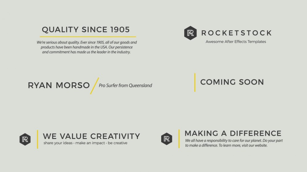 Rocket stock after effects template