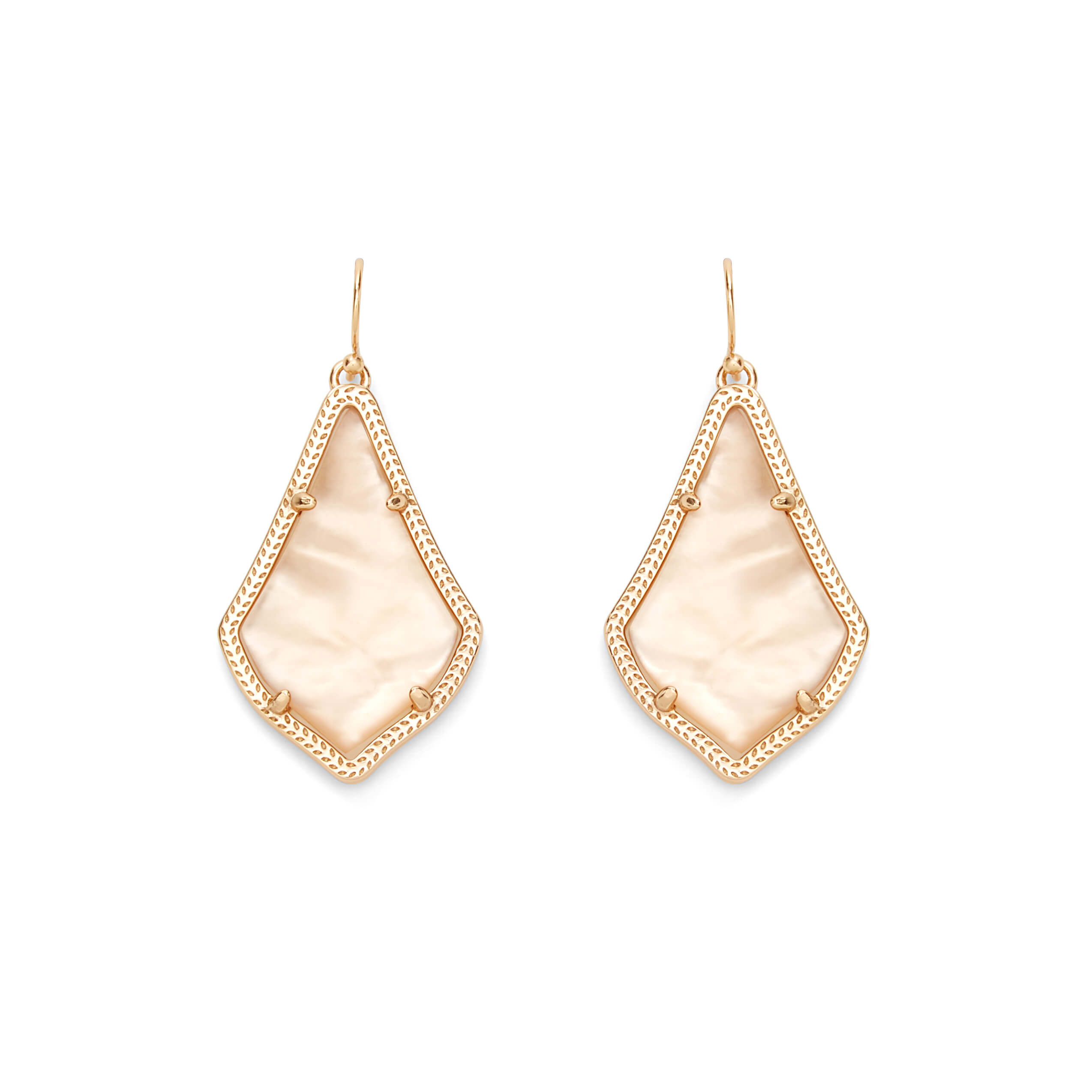 Alex Earrings in Peach Illusion