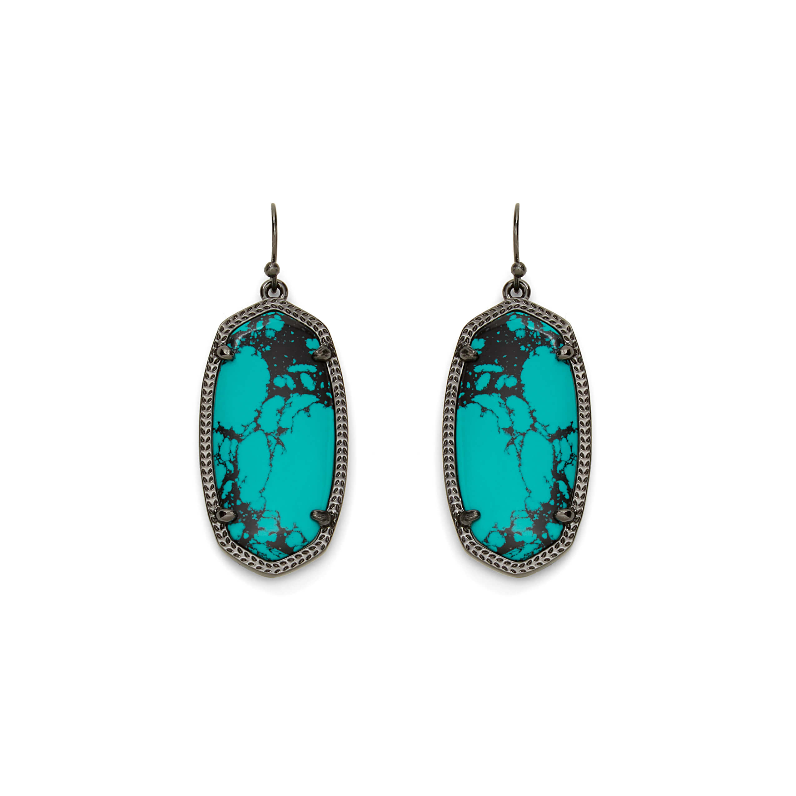 Elle Earrings in Teal Magnesite