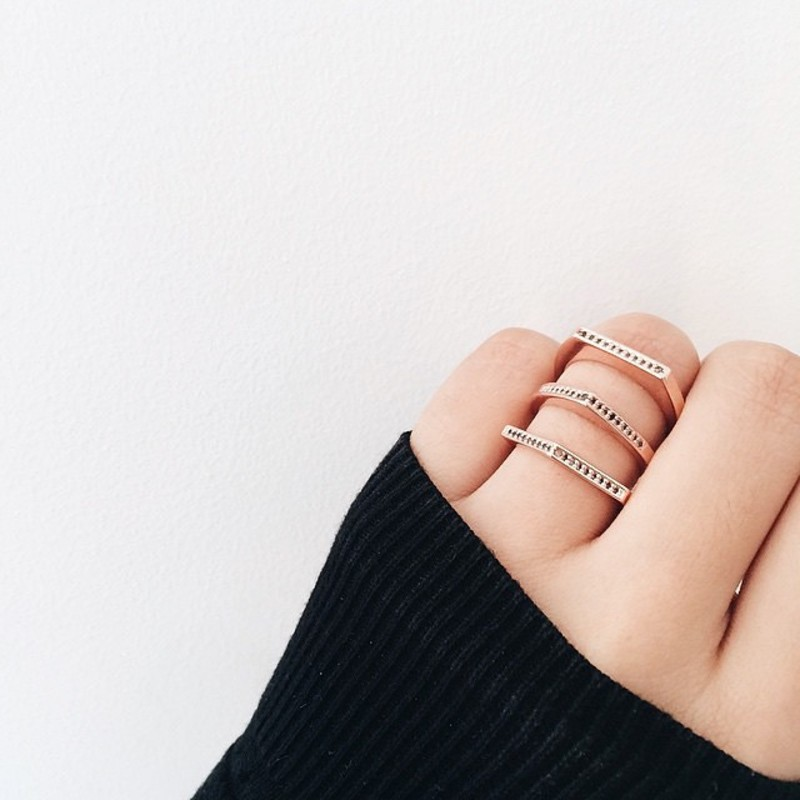 User Generated Content for Gorjana Mila Shimmer Ring Set in Rose Gold