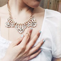 User Generated Content for Wanderlust + Co Industrial Deco Bib Ivory  Necklace