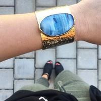 User Generated Content for Charlene K Agate Blue Quartz Cuff