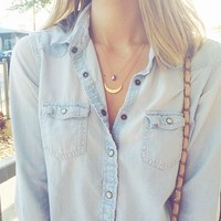 User Generated Content for Gorjana Crescent Shimmer Necklace