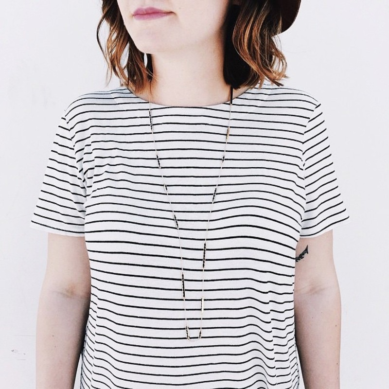 User Generated Content for House of Harlow 1960 Sunburst Bar Wrap Necklace in Silver