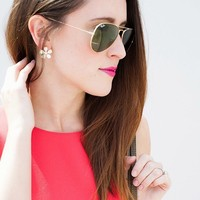 User Generated Content for Perry Street Bleecker Crystal Earrings