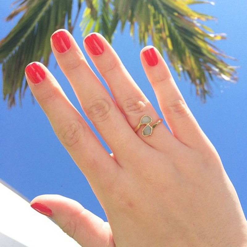 User Generated Content for Gorjana Daphne Ring in Amazonite