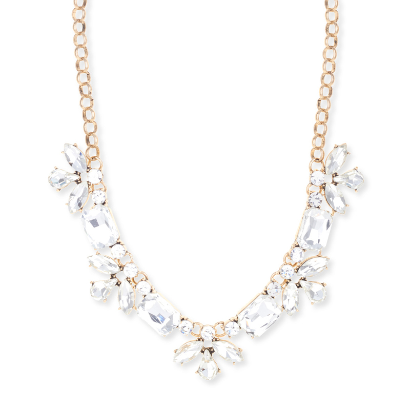 Model Content for Sharp 9 Crystal Flower Necklace