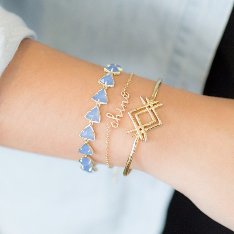 User Generated Content for Kendra Scott Ripley Bracelet in Periwinkle Translucent Glass
