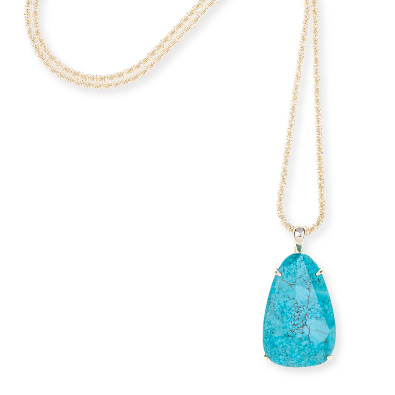 Model Content for Kendra Scott Sandra Necklace in Turquoise Magnesite