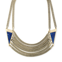 Model Content for Jenny Bird Frida Collar in Gold and Lapis