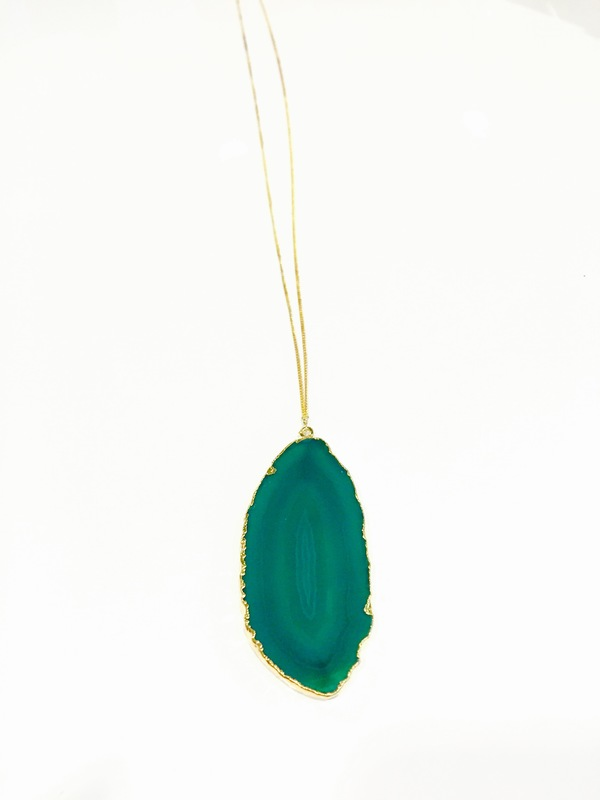 User Generated Content for Robyn Rhodes Taylor Necklace in Green Agate