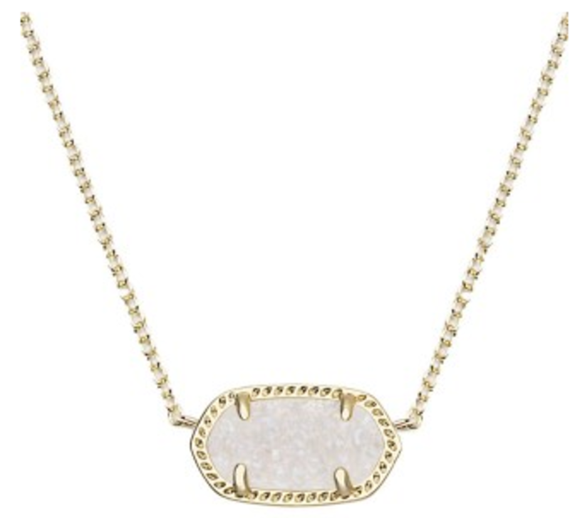 Model Content for Kendra Scott Elisa Necklace in Iridescent Drusy