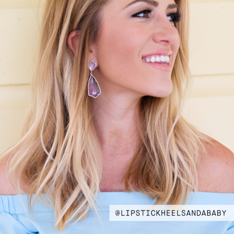 User Generated Content for Kendra Scott Carey Earrings in Amethyst
