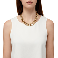 Model Content for Jenny Bird RiRi Collar Necklace in Gold