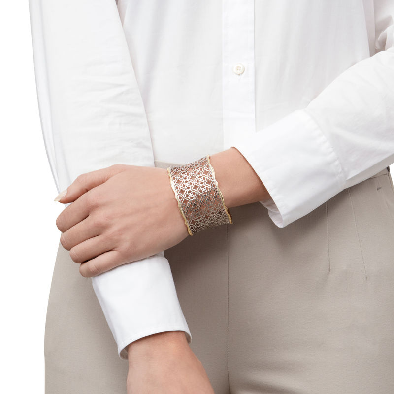 Model Content for Kendra Scott Candice Cuff in Gold and Silver