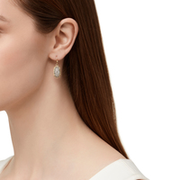 Model Content for Kendra Scott Lee Earrings in Platinum Drusy