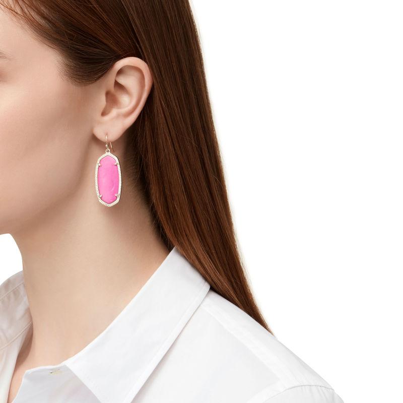 Model Content for Kendra Scott Elle Earrings in Magenta