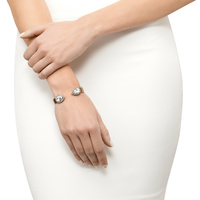 Model Content for Loren Hope Small Sarra Cuff in Crystal