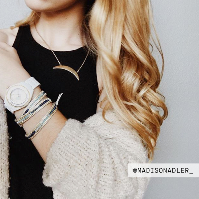 User Generated Content for Jenny Bird Crescent Moon Necklace  in Gold